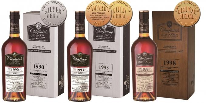 老酋長雪莉桶威士忌原酒 榮獲2017麥芽狂人獎金牌肯定